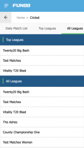 Top leagues for betting