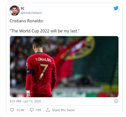 Ronaldo To Play For FIFA 2022 World Cup